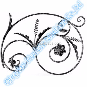 Good quality hot sell Wrought Iron Decorative Rosettes for Gates, Fences, Railings