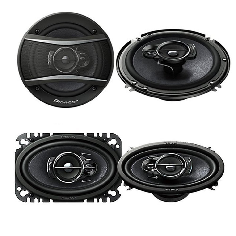 "Pioneer TS-A4676R 200W Max 4 x 6"" 3-Way Coaxial Car Speakers ( PAIR) + Pioneer TS-A1676R 320W 6-1/2"" 3-Way Coaxial Car Speakers ( PAIR)"