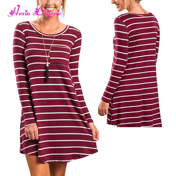 High quality guangzhou wine red long sleeves teenager sexy dresses women elegant