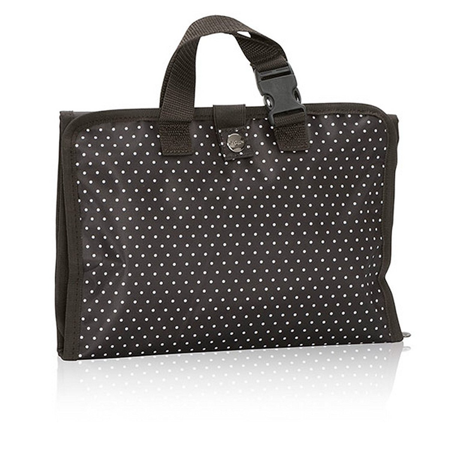 Thirty One Timeless Beauty Bag In City Charcoal Swiss Dot No Monogram 3849