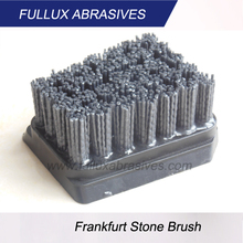 Fullux Frankfurt type stone diamond brush abrasive for antique effect leather finish polishing abrasive
