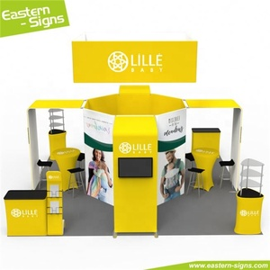 High-end aluminum advertising easily install foldable craft booth display supplies