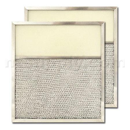 "Aluminum Range Hood Filter with Light Lens - 10-13/16"" X 11-13/16"" X 1/2"" (Lens Size 4-3/8"" X 10-13/16"")"