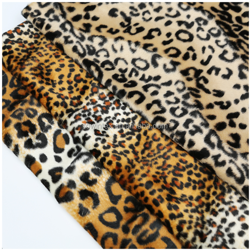 100%Polyester Animal Skin Printed Velvet for Blanket