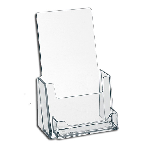 Custom Clear Acryl Wenskaart Display Rack Plexiglas Lucite Tafelblad Brochure Display Houder