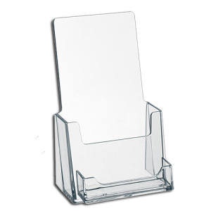 Custom Clear Acrylic Greeting Card Display Rack Plexiglass Lucite Tabletop Brochure Display Holder