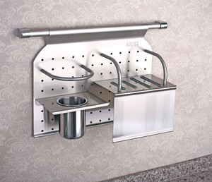 Hot sale stainless steel kitchen wall rack with knife holder