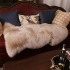 Amazon New arrival Factory Wholesale Fluffy Soft Home Decor Living Room Bedroom Long Hair Pile Goat 100% Real Sheep Fur Rugs