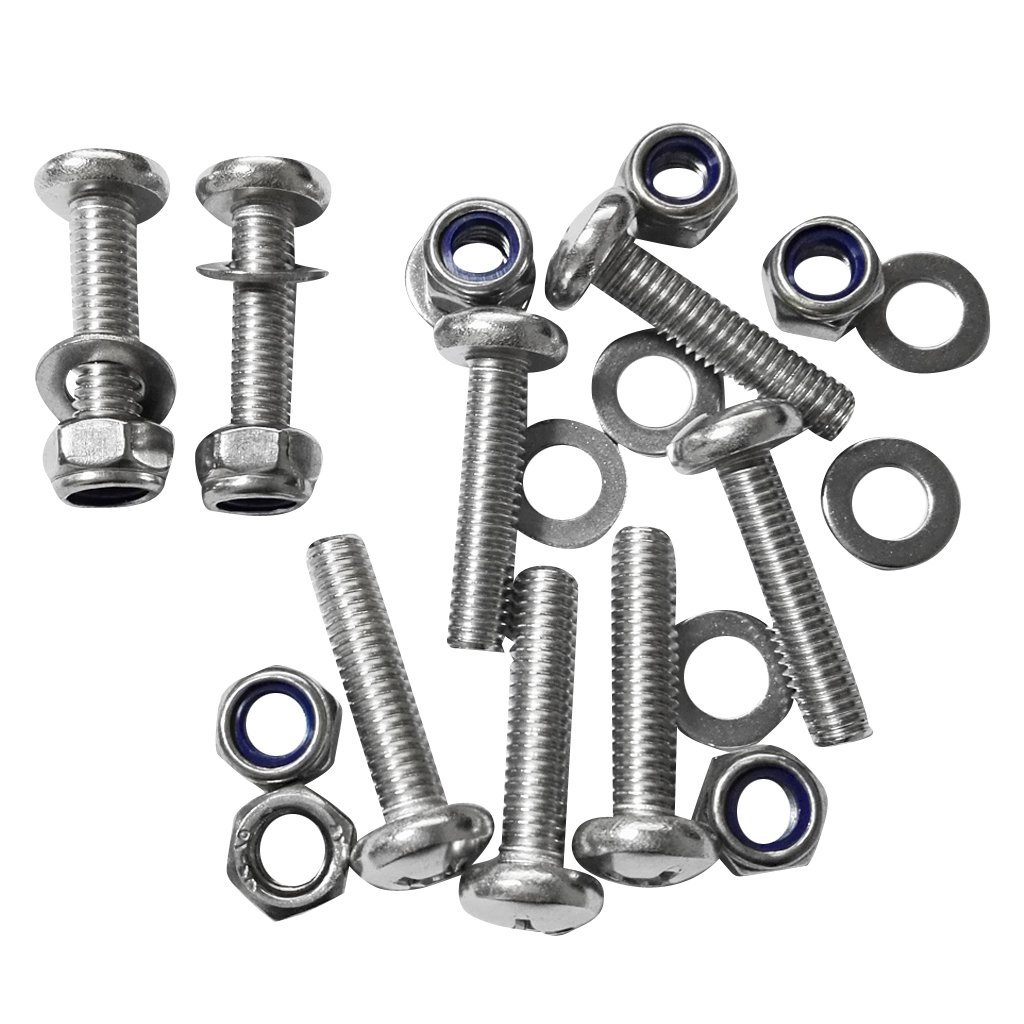 Dovewill 8 Pieces Durable Stainless Steel Kayak Canoe Boat Screws Bolt Nuts Hardware Kit M6
