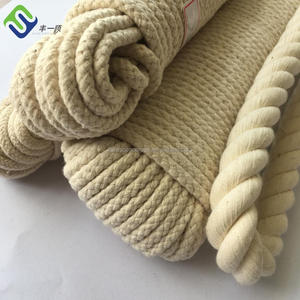Natural white color soft braided cotton craft rope spool 5mm for craft in high quality