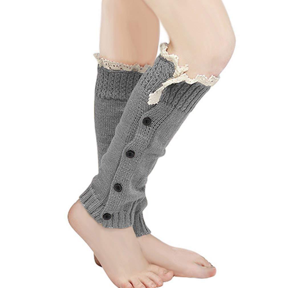 33263bad9ae Get Quotations · MIOIM Baby Girls Trendy Lace Crochet Button Trim Leg  Warmers Boot Cuffs Socks