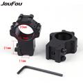 JouFou 2pcs pcs Hunting Gun Accessories Rifle Scope Mounts Optical Sight Bracket High 21mm Picatinny Weaver