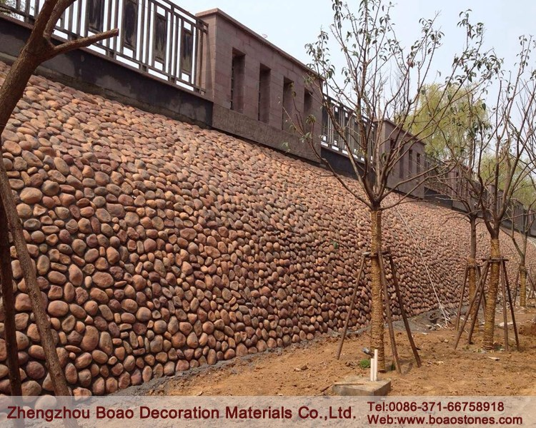Fake Decorative River Rock Stone Veneer For Wall Fence