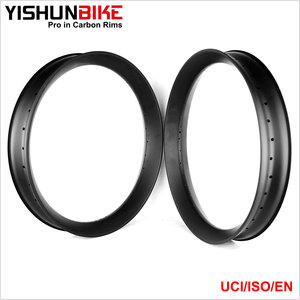 "2017 YISHUN 26er fat bike 20mm height light racing carbon rim 90mm wide 26"" snow bicycle hookless stable rims FAT26S-90S"