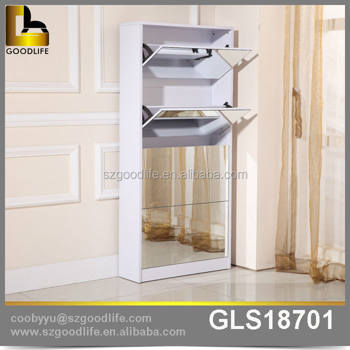 Home Furniture Wooden Shoe Cabinet Mirror Shoe Rack Accessories Part 42
