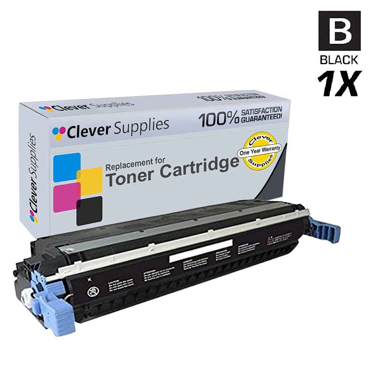Get Quotations · Clever Supplies© Compatible Replacement Toner Cartridges  Black for HP 5550 (C9730A), HP