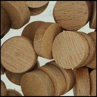 """WIDGETCO 3/4"""" Mahogany Wood Plugs, Face Grain"""
