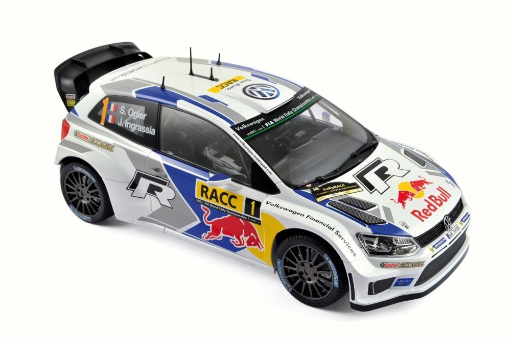 Volkswagen Polo R WRC Race Car #1 (Ogier/Ingrassia) - Norev 188477 - 1/18 Scale Diecast Model Toy Car