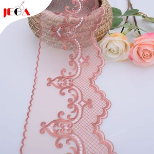 Factory price ruffle elastic pearl lace trim for garment
