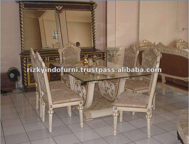 Alta calidad thalia hogar moderno comedor de madera conjunto sets ...