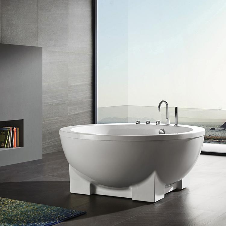 Big Bowl Shaped Solid Surface Freestanding Bathtub Round Bath, Big ...