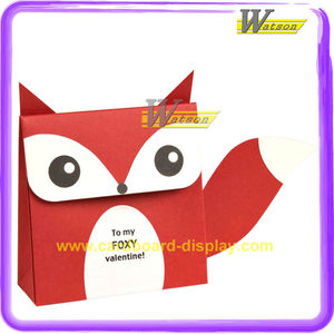 High Quality New Design Lovely Fox Art Coated Paper Gift Bags for Skin Care Tools