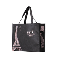 Factory cheap logo printed promotional non-woven tote bag