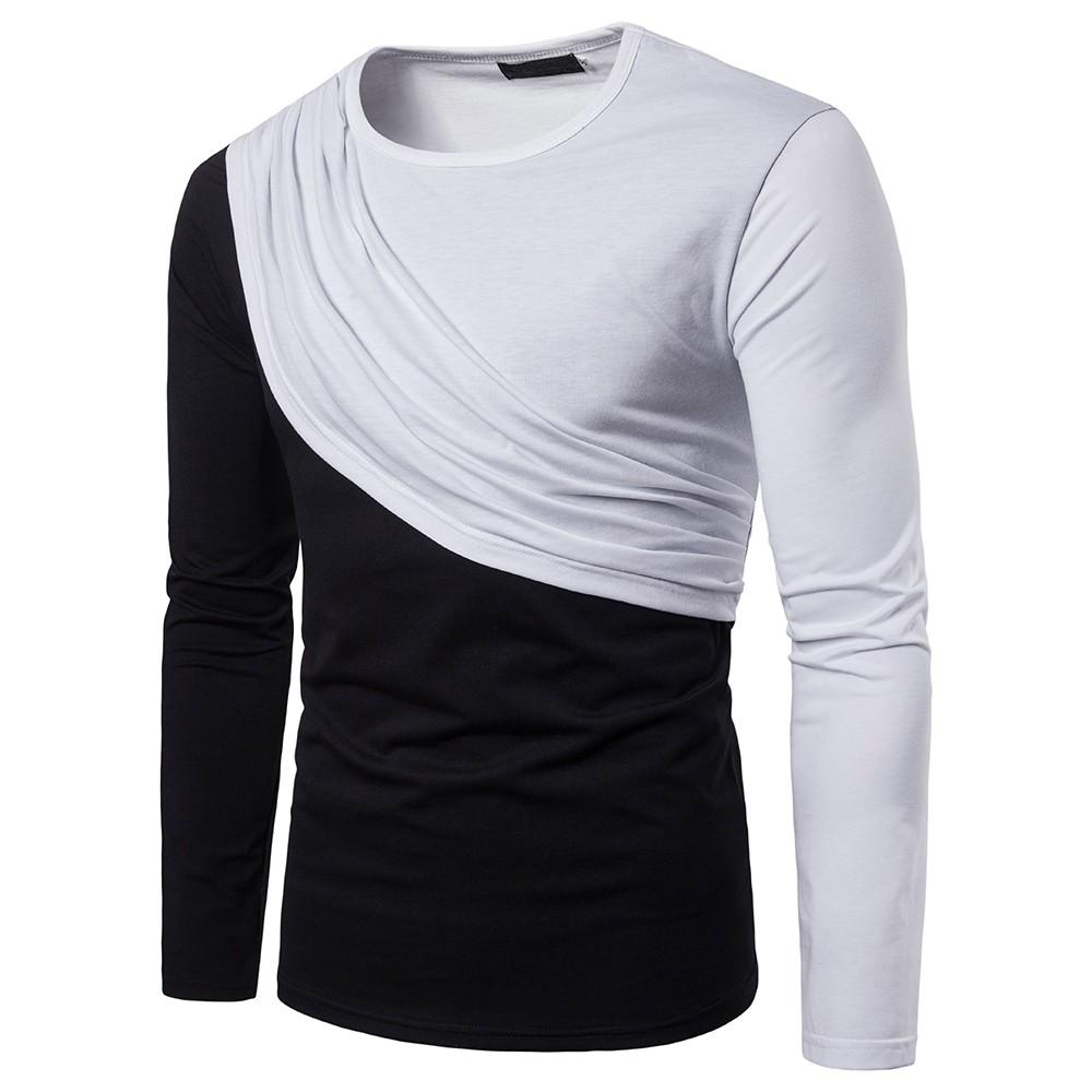 43109618ffdf 2018 NEW Trendy Summer Men T Shirt Casual Long Sleeve Slim Men S Basic Tops  Tees Stretch T Shirt Mens Clothing Crazy Tee Shirts Novelty T Shirt From ...