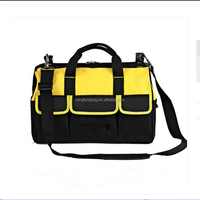 Factory Husky Polyester Tool Tote Bag With Multifunctional Pockets, Electrician Tool Shoulder Carry Pouch Bag
