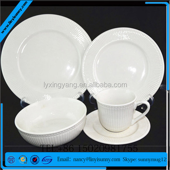 Dinnerware Set Service for 4 Kitchen Floral Elegant Dinner Earthenware WHITE : elegant dinnerware sets - pezcame.com