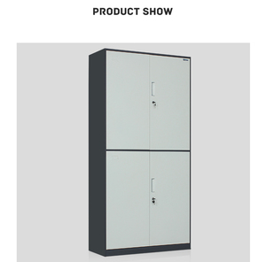 Durable two-layer metal instrument cabinet/outdoor storage cabinet