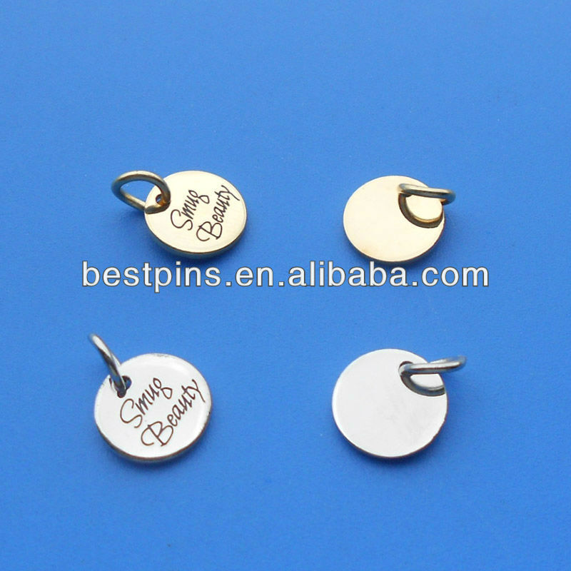 Custom Engraved Logo Jewelry Tag Stamp Brand Metal Tags