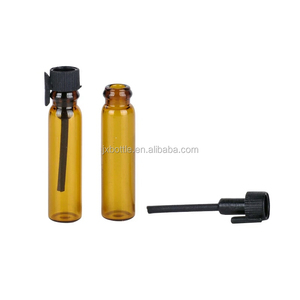 0.8ml 1ml 2ml 3ml Clear Amber Small Vial For Essential Oil Perfume Test Bottle Mini Sub Glass Tube For Perfume Sample