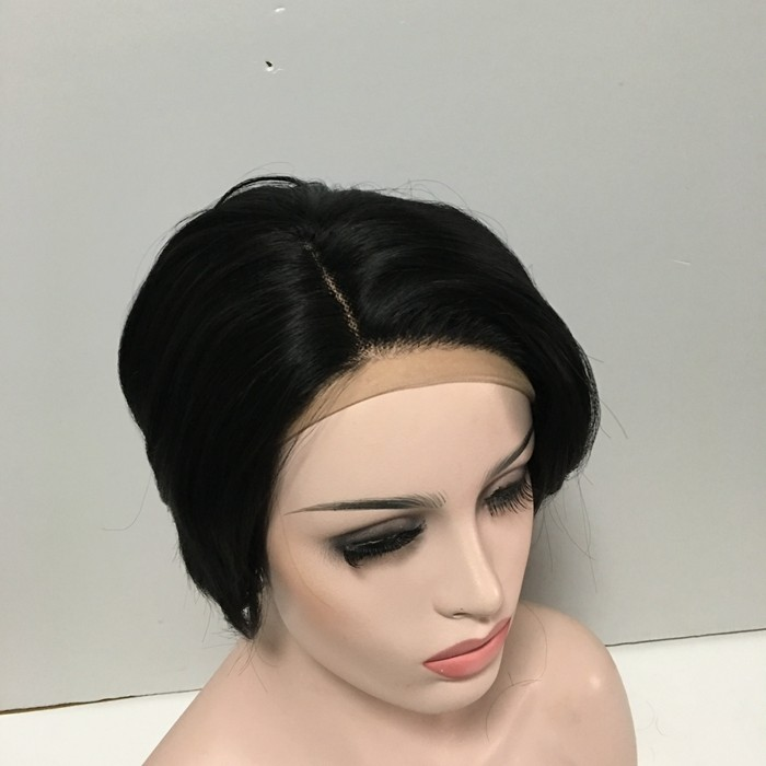 Wholesale Fashion Synthetic Short Straight Lace Front Wig
