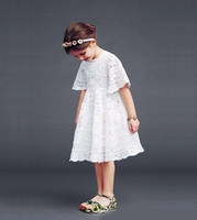 S32828W Wholesale baby clothes latest party wear girls frock design patterns elegant baby Lace dress