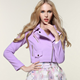 MS20693A Latest ladies short purple short worsted jacket design