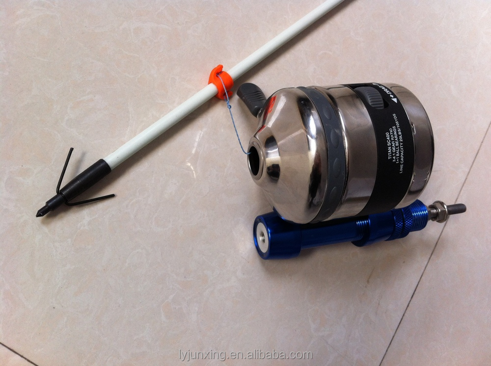 Bowfishing reel kit compound bow accessory fish hunting for Fishing bow kit