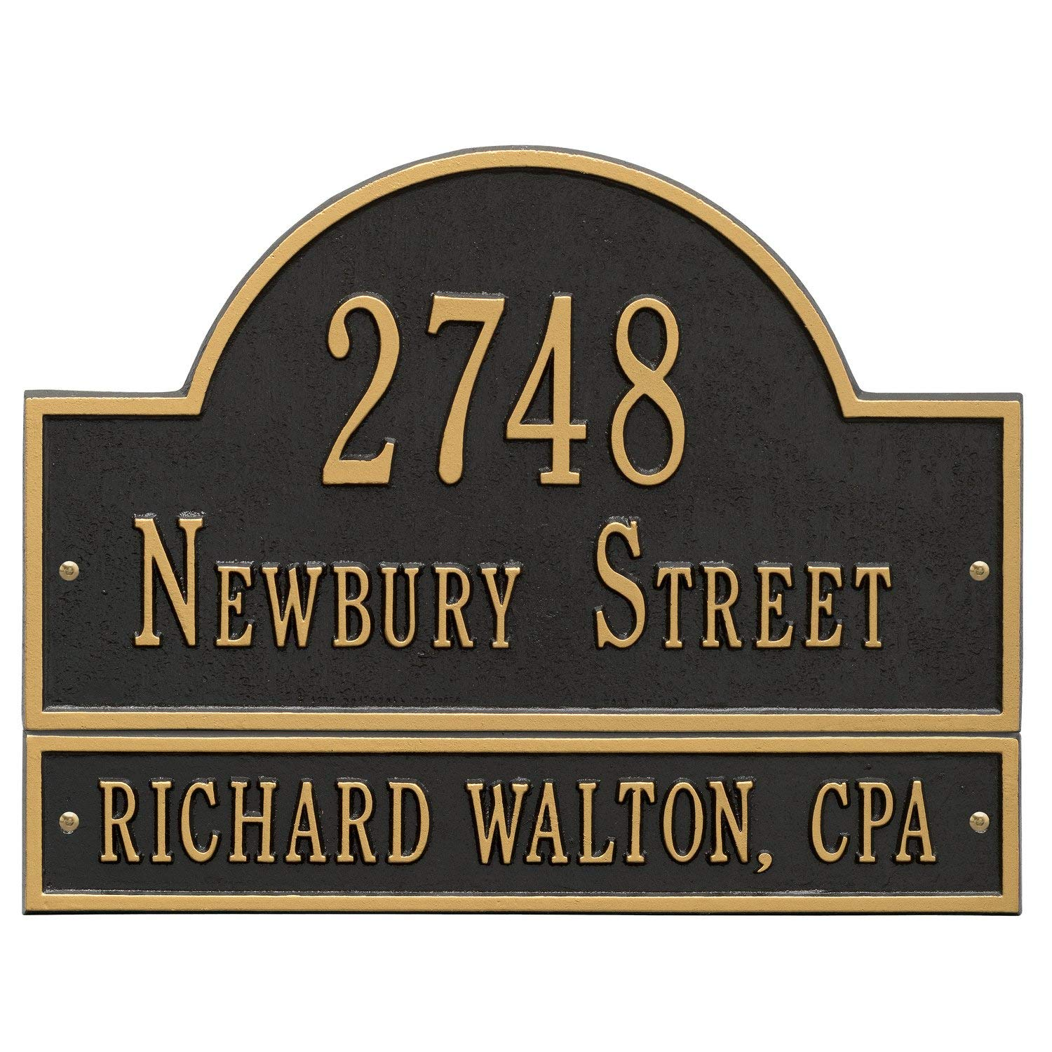 """Customized Arch Marker Address Plaque WITH EXTENSION 3 Lines 15.75""""W x 9.25""""H"""