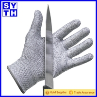 Black Protect Stainless Steel Wire Safety 10 gauge meat glove