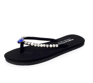 8def3587b3a90 glass stone with bead lunxry hand made lady flip flop