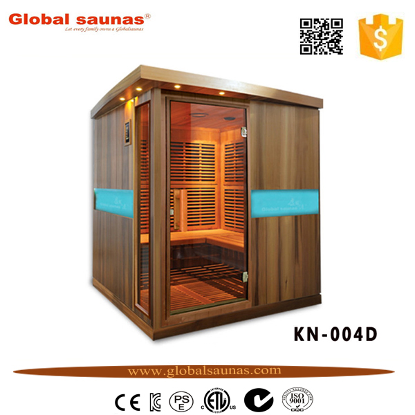 outdoor garden sauna cabins with control panel