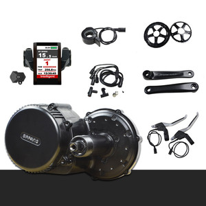 bbs01 36v 250w 350w bbs02 48v 750w bafang 8fun mid drive motor e-bike conversion kit