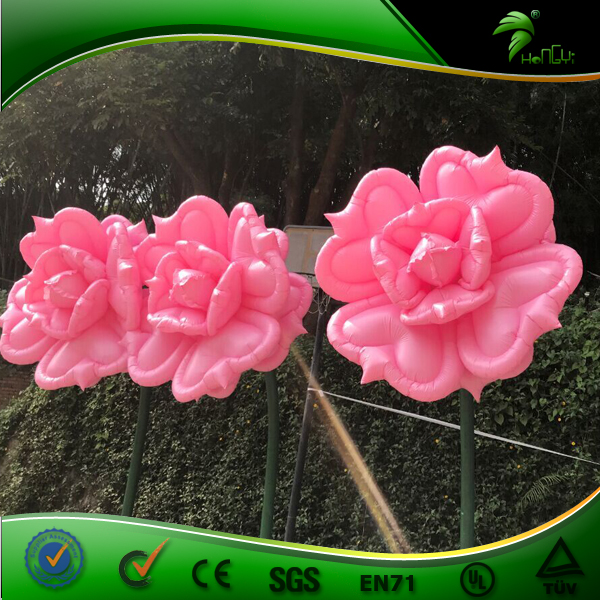Voice Control Dancing Inflatable Flower Sound Activated Flowering Shopping Mall Inflatable Blossom Adornment