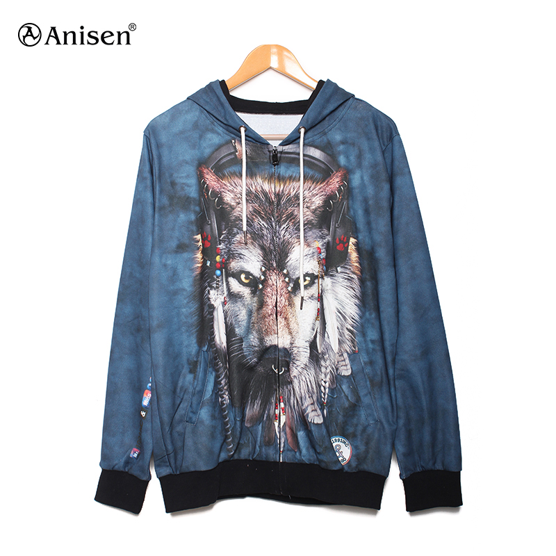 wholesale high quality warm fleece outdoor hoodies printed women clothing