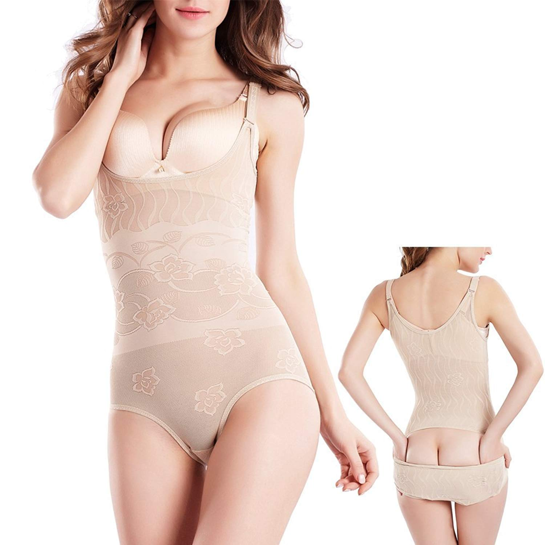 de9f732a18 Get Quotations · Women s Bodysuit Body Briefer Smooth Wear Slimmer Shapewear  Seamless Lightweight Underbust Shapewear
