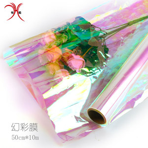 Transparent wrapping paper roll fresh flower wrapping cellophane paper roll