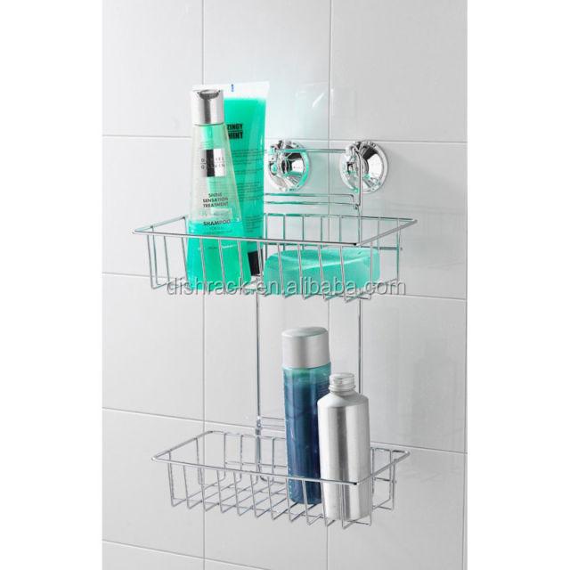 Metal Chrome Bathroom Corner Shelf Organizer,Shower Caddy,Shower ...