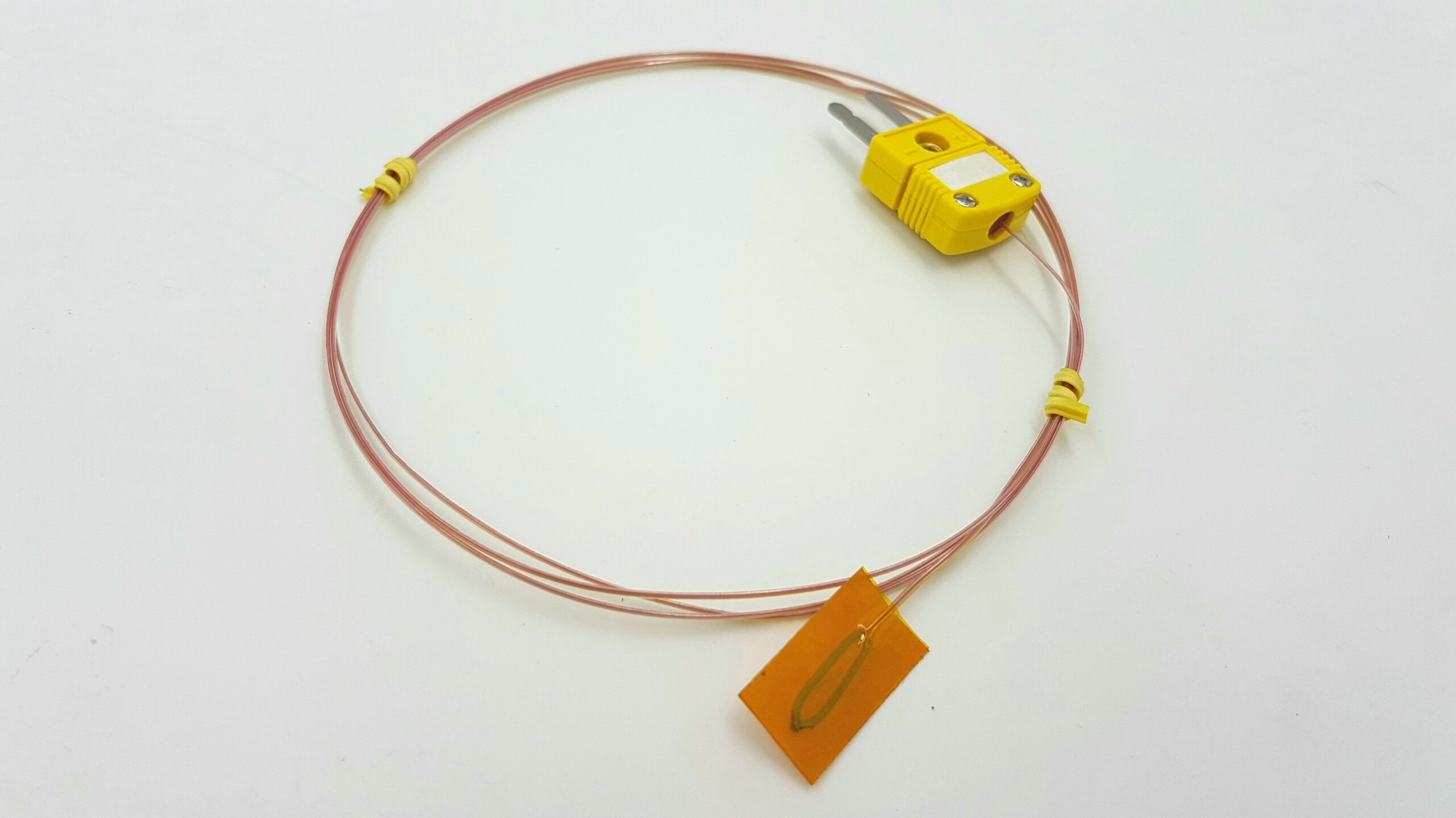 Perfect-Prime TL0225, Surface Contact ,0.25 mm diameter, K-Type Sensor Probe with Sticker for K-Type Thermocouple Thermoemter / Meter, Temperature Range up to 200 °C/ 392°F