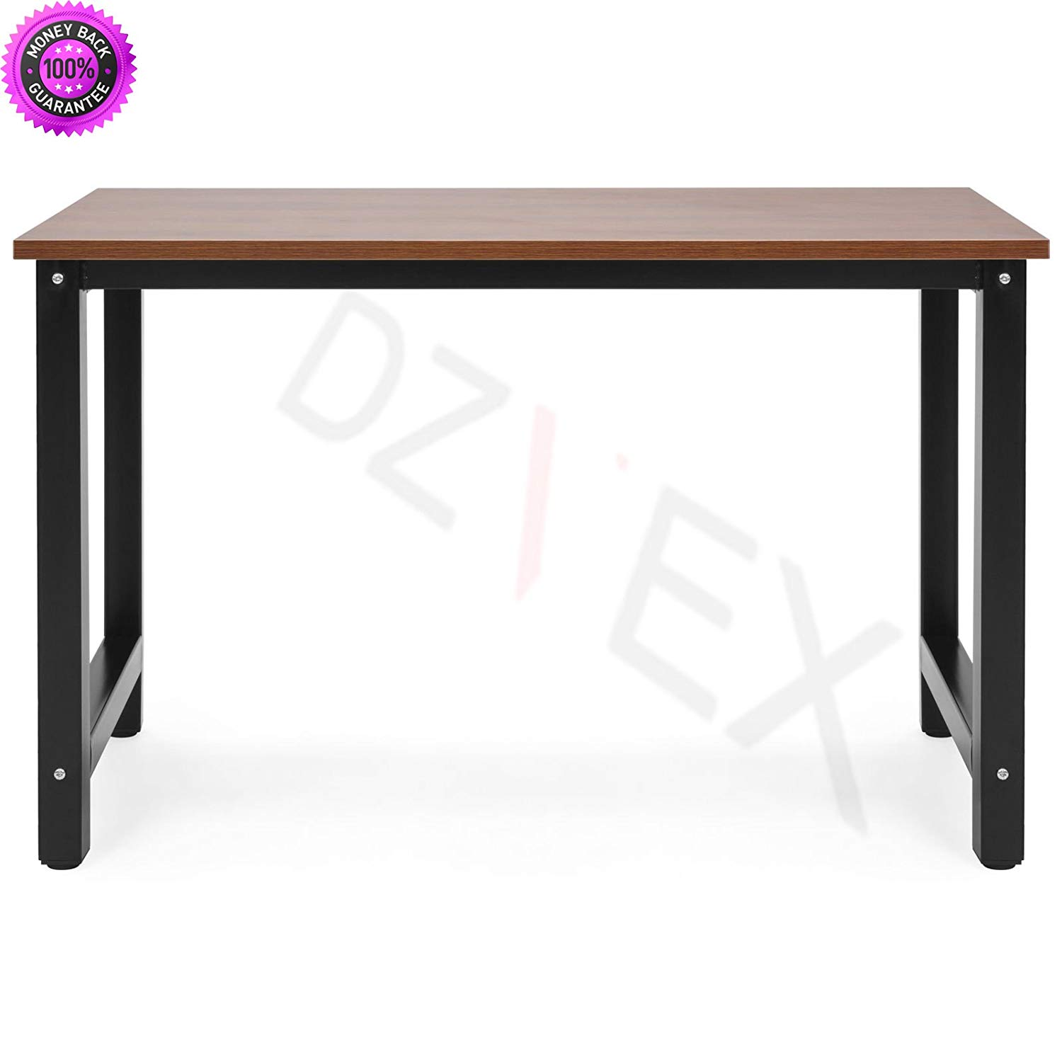 DzVeX_Large Modern Computer Table Writing Desk for Home and Office - Brown/Black And home office furniture sets commercial office furniture home office desk home office furniture collections modular