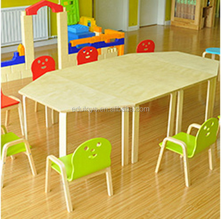 2017 New Design And Popular Wooden Children Furniture Set Preschool Table And